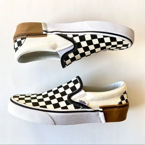 New Vans Classic Slip On Checkered Black Cream